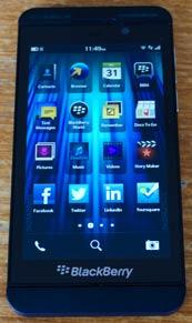 Blackberry z10 apps screen