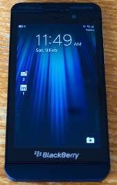 Blackberry z10 home screen