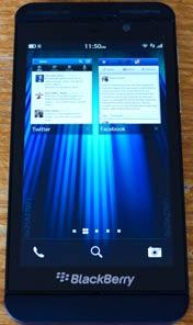 Blackberry z10 switch screen
